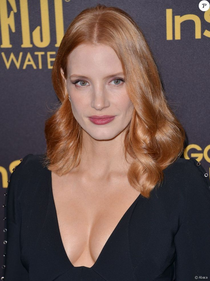Jessica Chastain...  now you have a new perspective on red.....