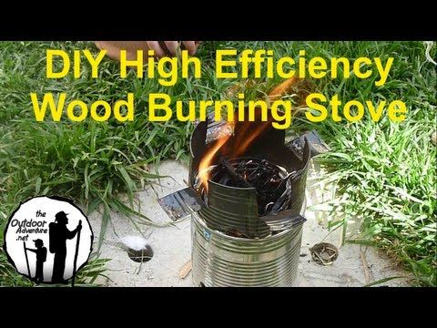 Cool DIY woodburning stove.  Great for camping
