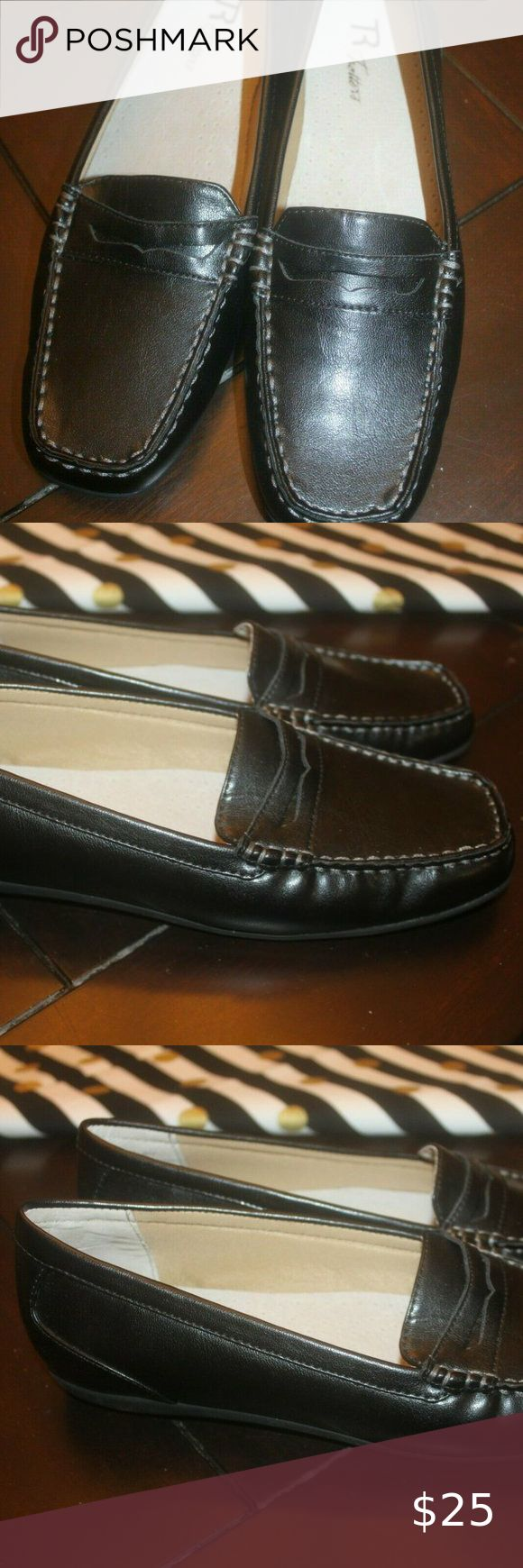 H P Trotters Black Leather Penny Loafer 9.5N EUC in 2020 ...