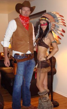cow girl and indian costume - Google Search