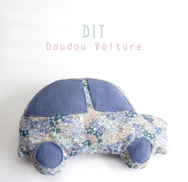 Pour les couturières, un auto pour faire un doudou en forme de voiture