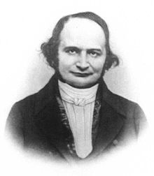 Carl Gustav Jacob Jacobi (Potsdam, 1804) made fundamental contributions to elliptic functions, dynamics, differential equations, and number theory. He was also one of the early founders of the theory of determinants, invented the Jacobian determinant and the Jacobi identity which often appears in the study of vector fields and Lie algebras.