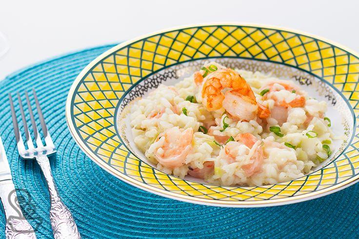 aprenda as dicas e truques para fazer esse delicioso risoto de camarão com alho poró