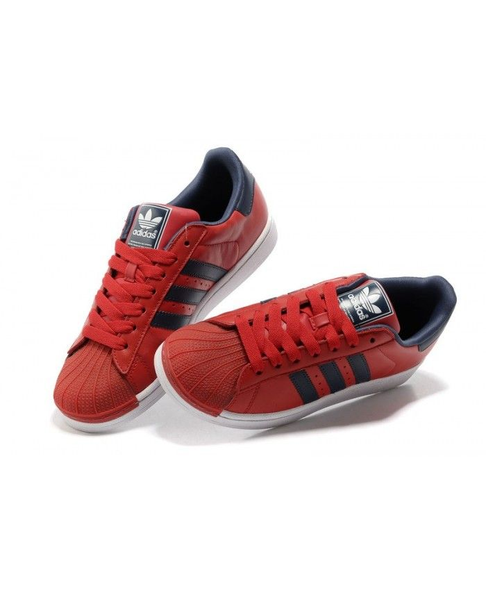 67964b8d5c0 Discount Adidas Superstar Mens Red Fashion Sneakers T-1092 ...