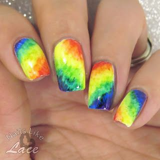 NailsLikeLace: A Weekly Dose of Rainbows: Tie-Dye