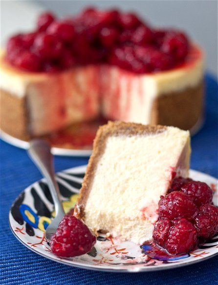 1 pound cream cheese, 2 (8-ounce) blocks, softened 3 eggs 1 cup sugar 1 pint sour cream (about 2 cups) 1 lemon, zested 1 teaspoon vanilla extract