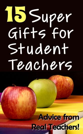 Corkboard Connections: 15 Super Gifts for Student Teachers!