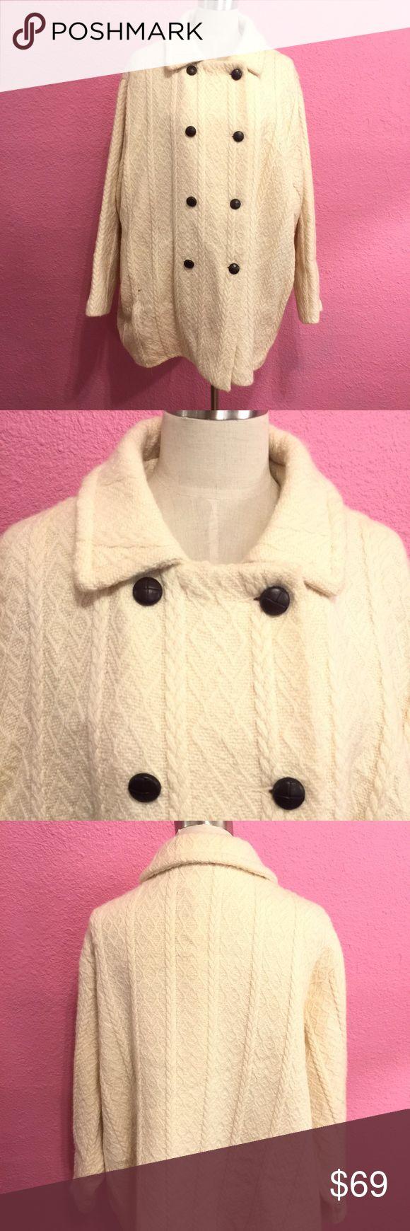 Wool winter coat.  Plus size    Cream Wool winter coat.  Plus size. Boyne Valley Jackets & Coats