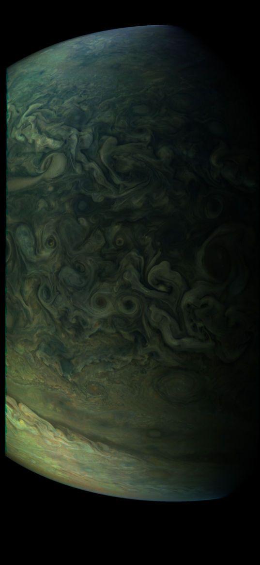 Southern edge of Jupiter's northern FFRs