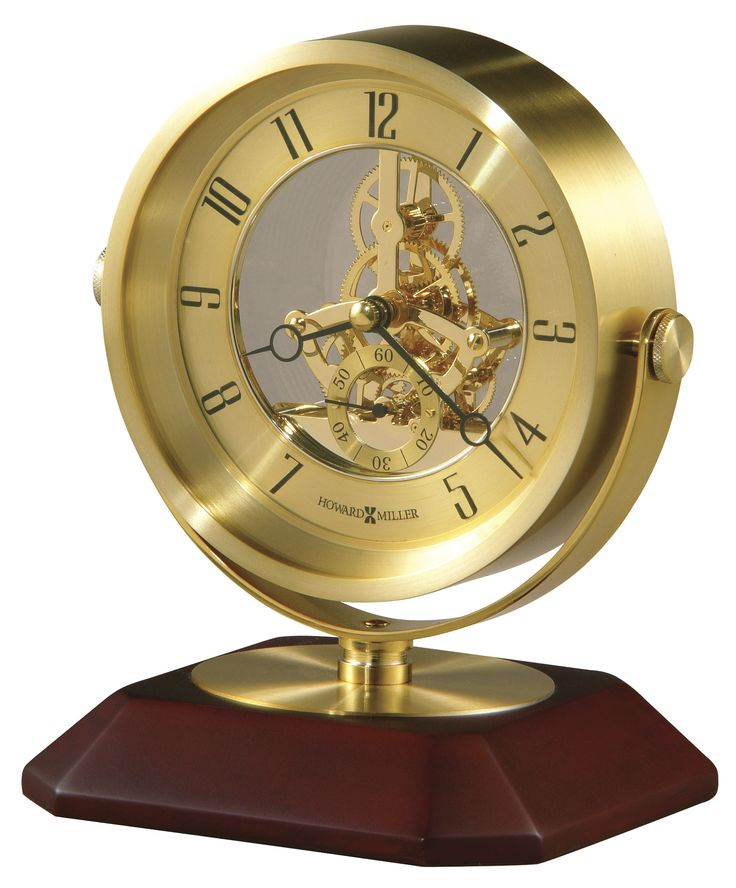 Howard Miller Soloman Table Clock With Skeleton Movement 645674
