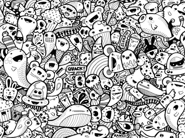kawaii doodle 1 patterns dessin coloriage
