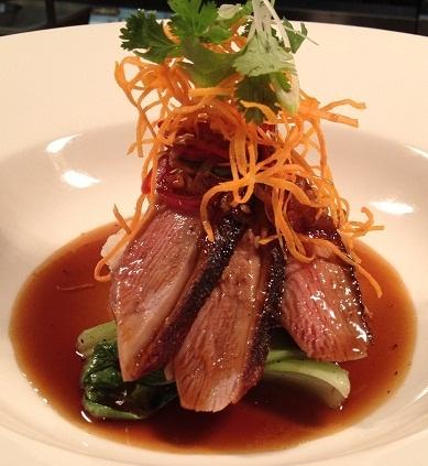 Chinese style roast duck at Ezard