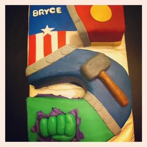 Avengers Cake for a special 5 year old!