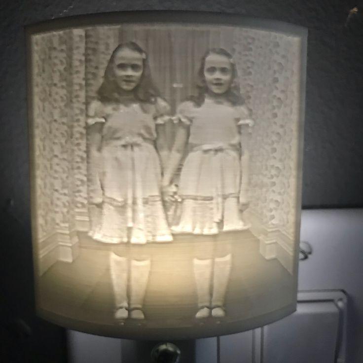Shining Twins Lithophane Nightlight By