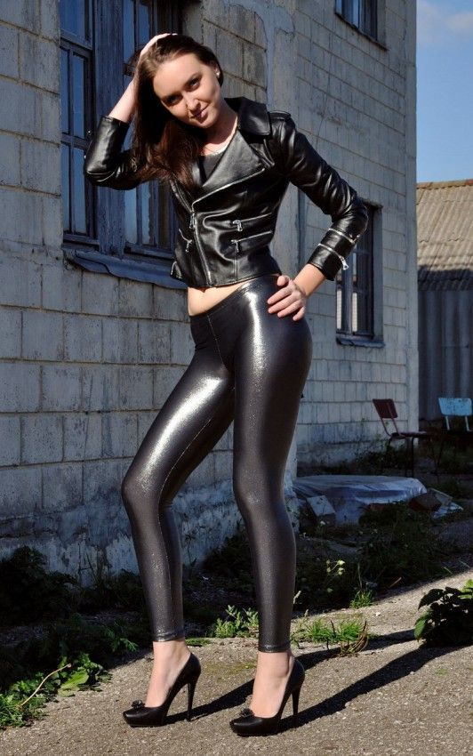 Shiny Leather Leggings for Girls and Women