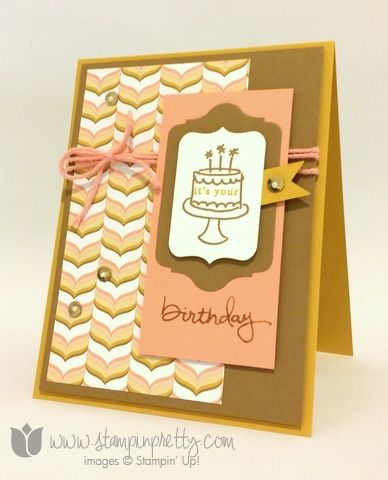 Stampin up stamping stamp it pretty blogs demonstrator endless wishes birthday card idea photopolymer