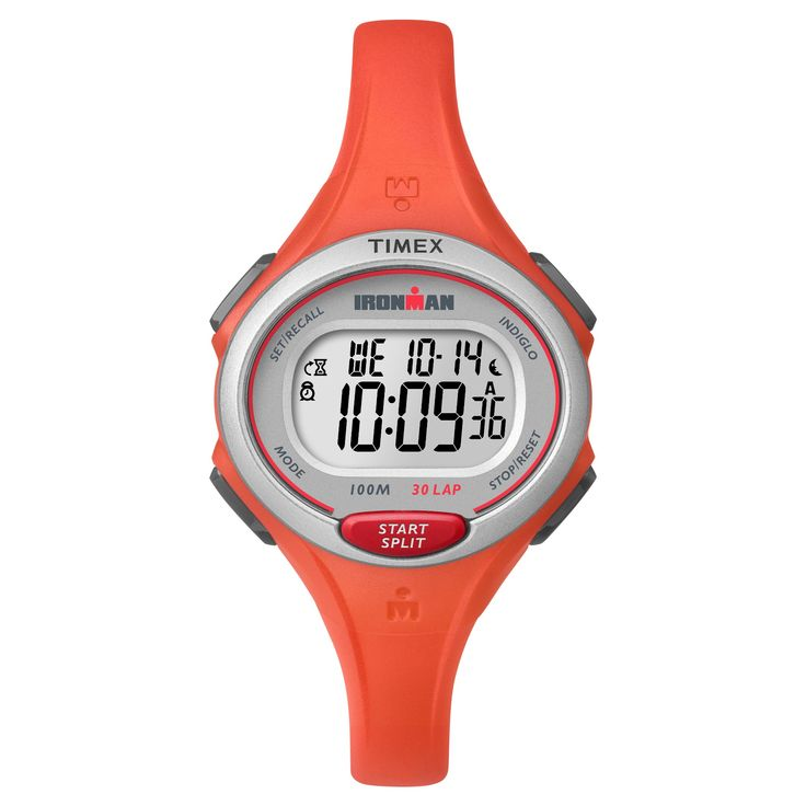 Women's Timex Ironman Essential 30 Lap Digital Watch - Orange TW5K899009J