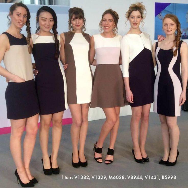 Color block dresses from vogue patterns UK