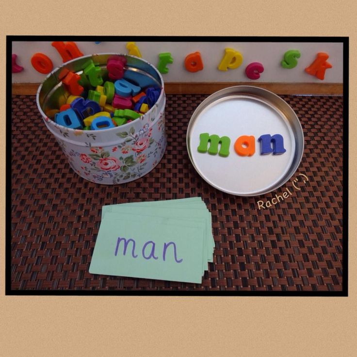 "Magnetic letters and a tin from Rachel ("",)"