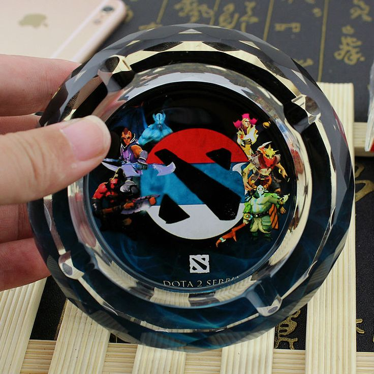 Related Product Of DOTA 2 WOW Creative Smoking Gift  For Online Vedio Game Player Boyfriend Husband Artificial Crystal Ashtray
