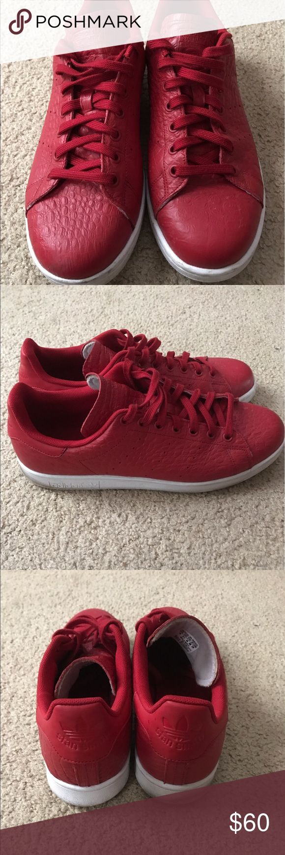 Adidas Stan Smith Red snake skin print size 10 adidas Shoes Athletic Shoes