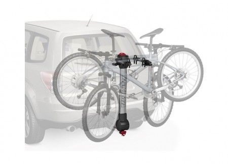 """The new Yakima RidgeBack 2 Bike carrier fits 1.25"""" and 2"""" hitch receivers right out of the box. New zero-hassle ZipStrips secure your bike to the carrier. Integrated SpeedKnob for tool-free installation. - See more at: http://www.racknroad.com/product/yakima-ridgeback-2.html#sthash.c4ZANMat.dpuf"""