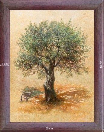oliviers  | Brouette et Olivier - Deco campagne - Tableau Provence | Lim