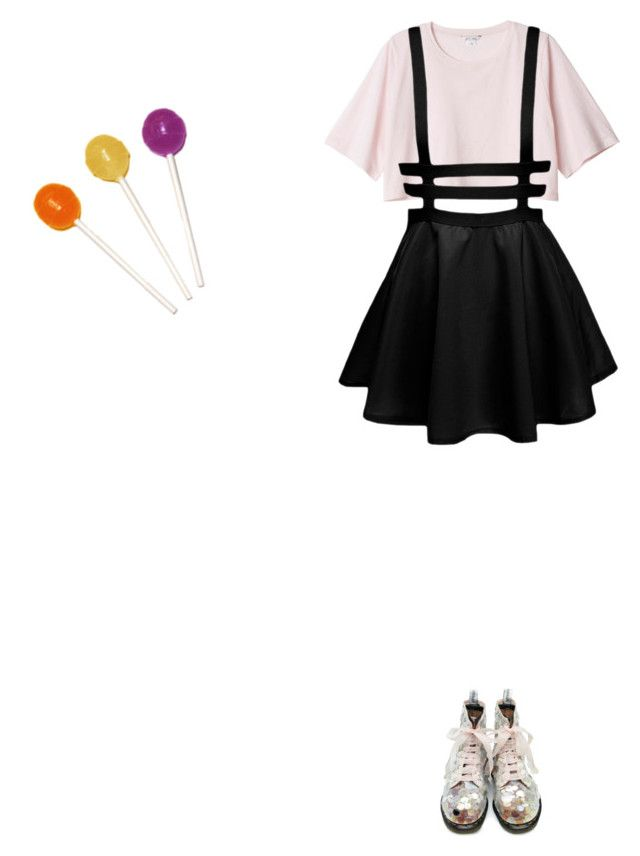 """currently rediscovering fobs sve rock and rool album"" by imakittybby ❤ liked on Polyvore featuring Monki"