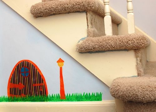 DIY fabric wall decals - need to do this for his cars room!
