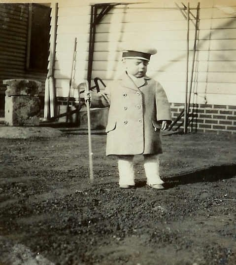 Somebody had fun dressing my dad up in cute little outfits! (Geo. A. Foulkes, circa 1926)