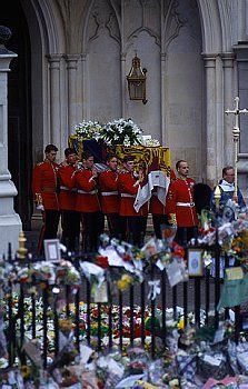 Princess Diana died on August 31, 1997 after a car crash in Paris. Her funeral was on September 6th.