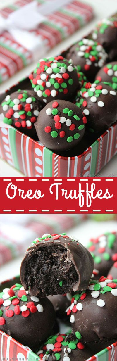 Oreo Truffles Balls - simple to make and they make for a perfect candy to gift during the holidays