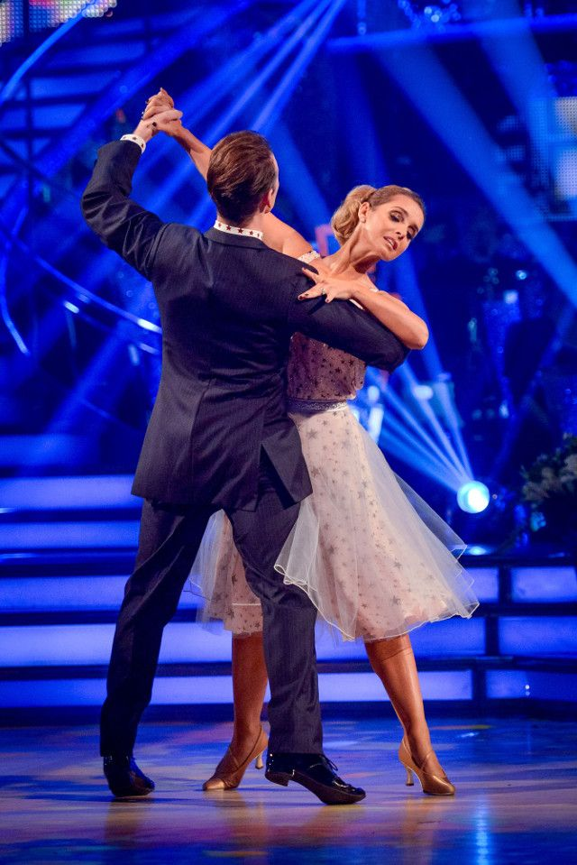 SCD week 10. 2016. Louisa Rednapp & Kevin Clifton. Waltz. Joint top of leader board. Credit: BBC / Guy Levy