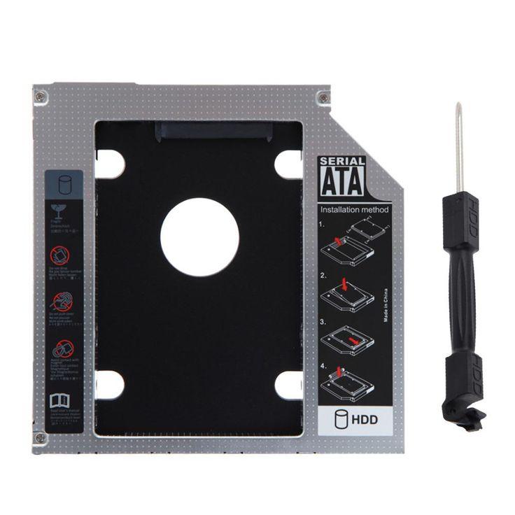 Universal 2.5 inch 12.7mm External Optical DVD Bay Adapter Aluminum SATA HDD SSD Hard Drive Caddy Hard Drive Bay for Notebook