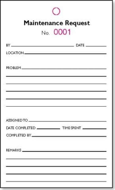 maintenance request form template 1641 Children\u0027s ministry