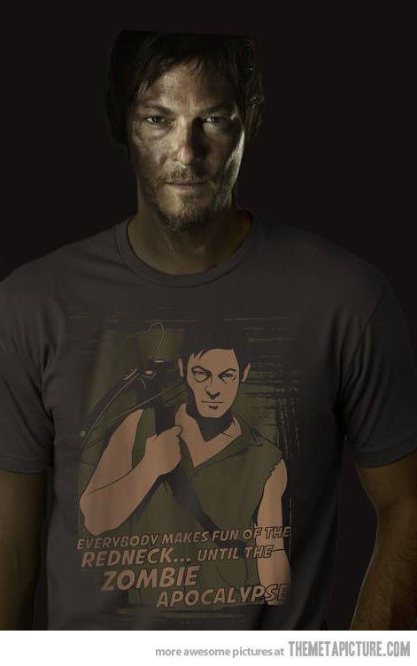 the walking dead funny | funny-The-Walking-Dead-redneck-shirt