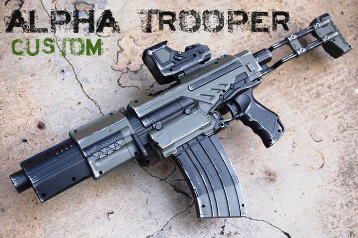 Nerf Alpha Trooper New Custom Painted for Halo Destiny Call of Duty Cosplay | eBay