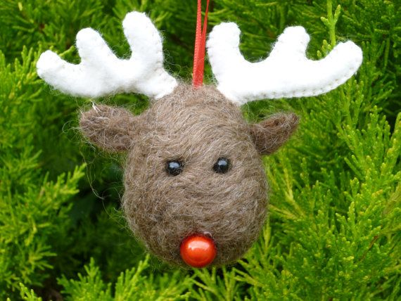 What Christmas tree wouldnt be complete without at least one of these fine fellows? This listing is for one Rudolph the Reindeer bauble. Each