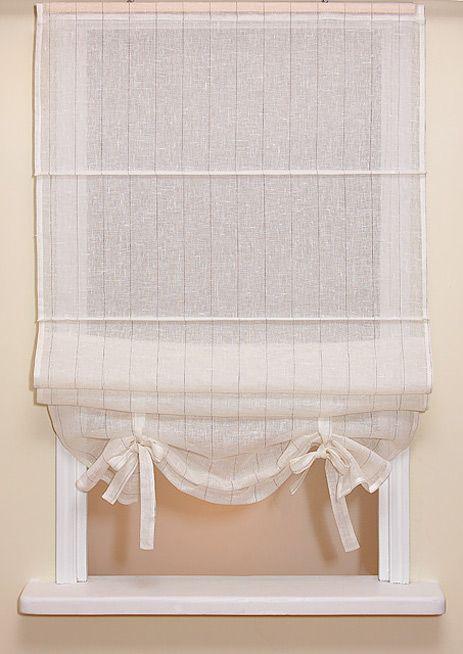 Roman blind Fiona, linen fabric.#linen #roman_blind