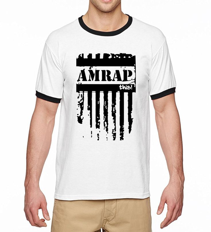 Crossfit Men T Shirt Amrap This 2017 Summer Casual Loose Fit Men T-Shirts Fitness Ringer Tee Shirts 100% Cotton Camiseta Hombre #Affiliate
