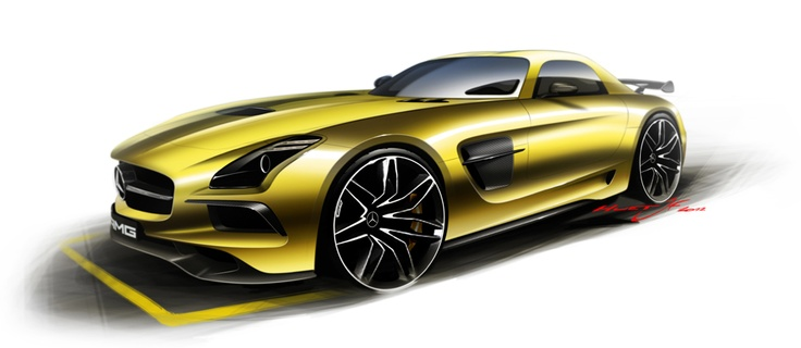 SLS AMG Black Series Design - the final step is the creation of flyers which aim to showcase the spirit of the car in a very emotional way.