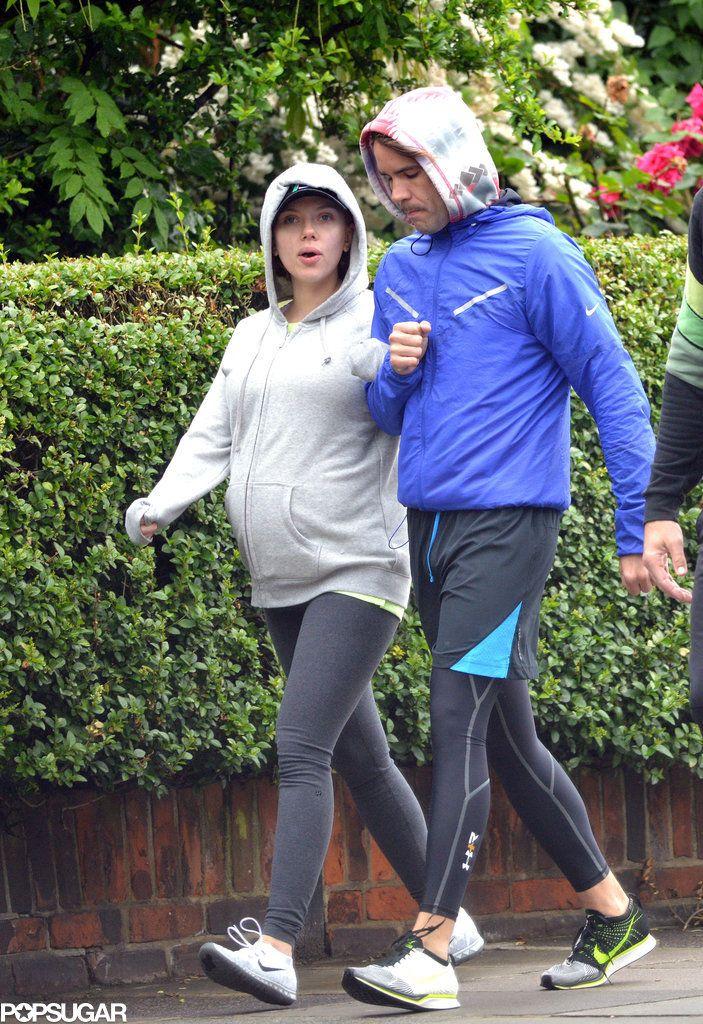 Even a Sweatshirt Can't Hide Scarlett Johansson's Baby Bump