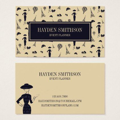 Classic Vintage 50's Fashion Business Card - stylist business cards cyo personalize businesscard diy