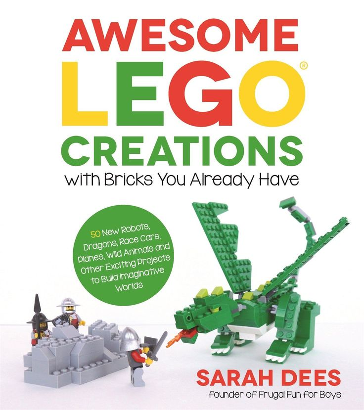 A Look Inside Awesome LEGO Creations with Bricks You Already Have (Our LEGO Book!)
