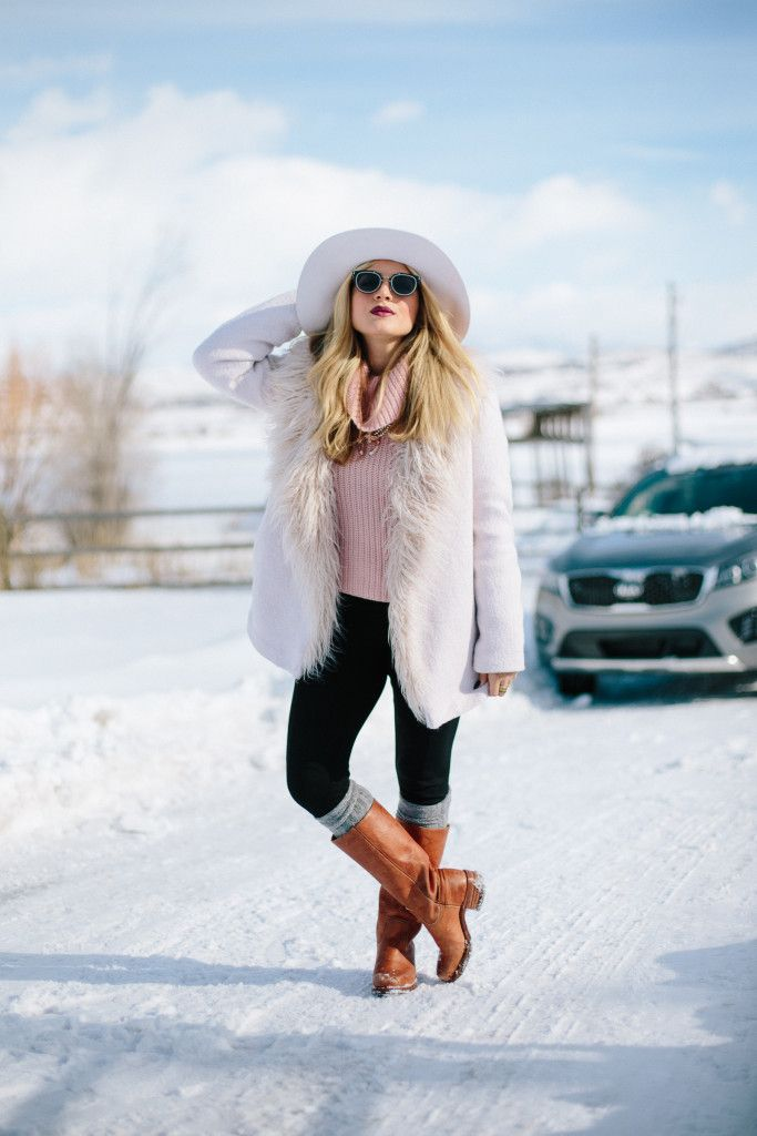 OOTD: Snow Bunny Chic | Who says you can't wear white in the snow?