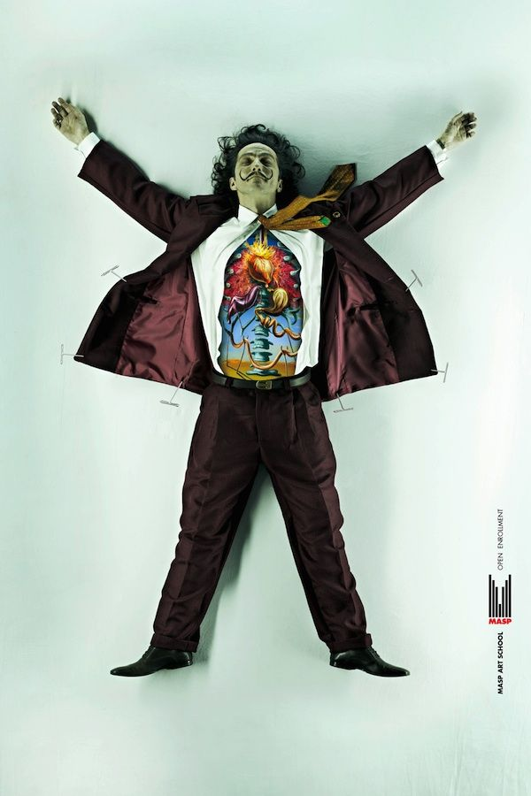 Dalí, Campaign for MASP Art School.