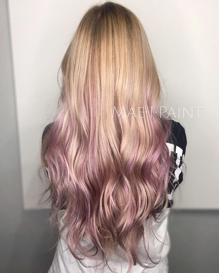 """This hair though  found it on Instagram ...Shout out goes out to Marissa Mae on Instagram for creating this beautiful look!   : """"I have been at the salon since 8am this morning but least I got to end my day with this lavender-rose ombré. Right in time for Valentine's Day  PS we didn't even have to touch up her roots because her balayage still looked Time to go home now yay #maeipaint"""""""