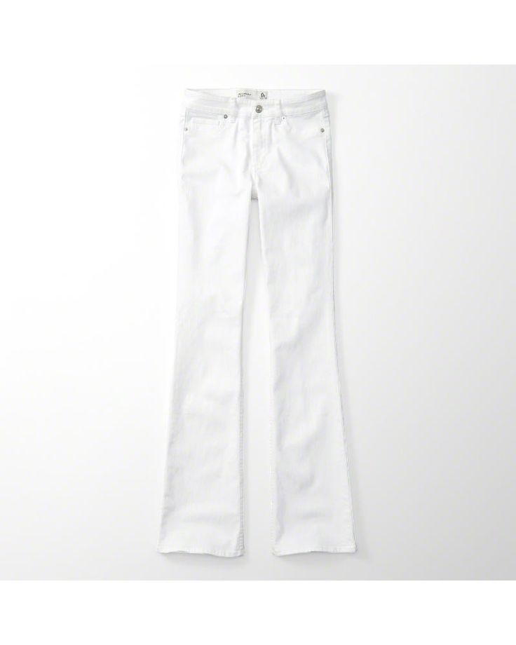 A&F Women's Bootcut Jeans in White - Size 6R