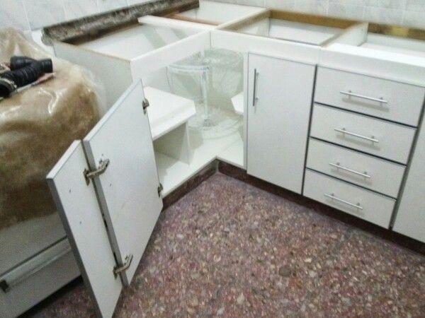 Esquinero bajo mesada cocina deco pinterest for Muebles de cocina esquineros