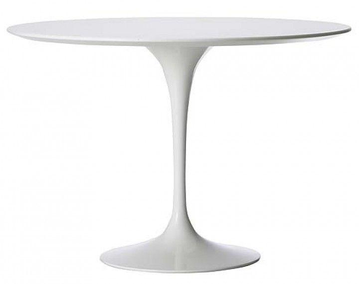 Design Klassiker Eero Saarinen 1100 CHF Tulip Tisch in weiss laminiert